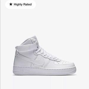 Lightly worn AF1 white high top